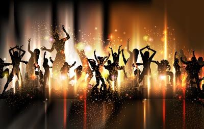 Espectaculares vectores de gente bailando en una fiesta