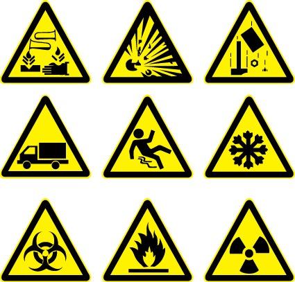 Símbolos de prevención en vector