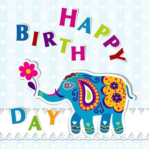 Elefante en vector para cumpleaños