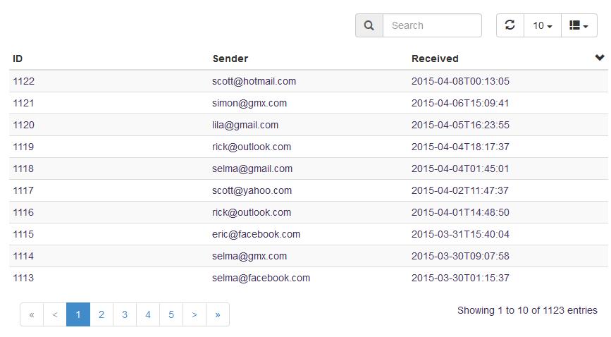 Crea tablas dinámicas con plugins de jQuery