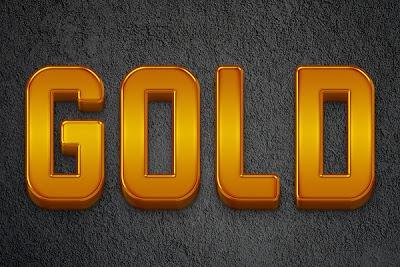 Efecto de texto de oro en Photoshop