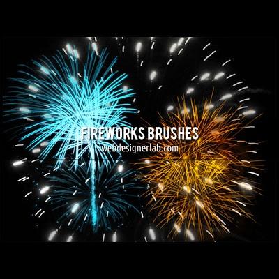 Magníficos pinceles de fuegos artificiales gratis para Photoshop