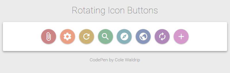 Rotar iconos con CSS