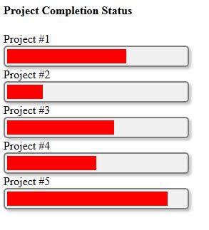 Colección de html5 progress bar