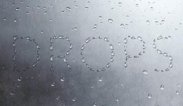 Como crear un efecto texto de gotas de lluvia en Photoshop