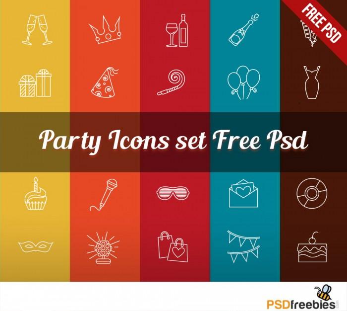 Iconos gratis de fiesta