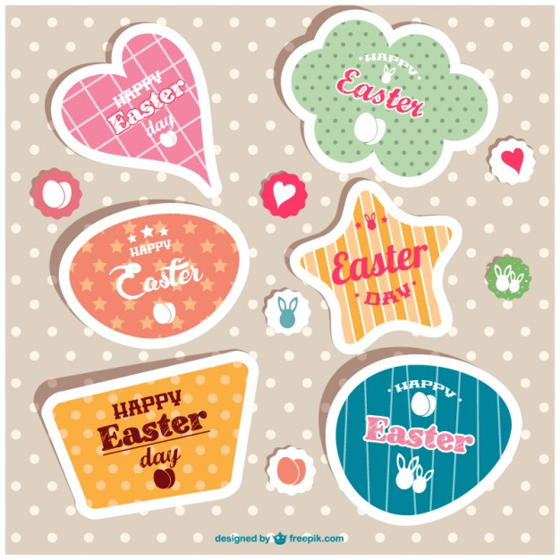 Etiquetas para Pascua gratis