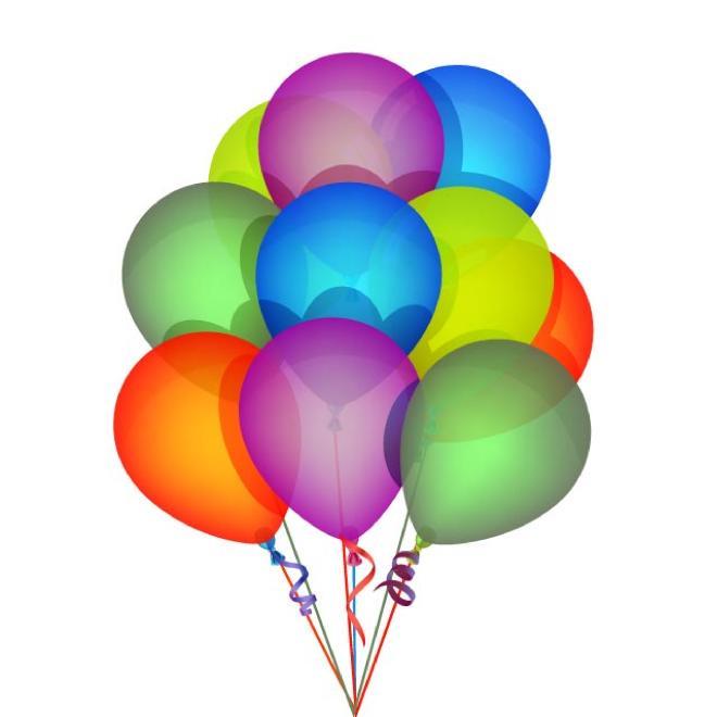 Globos vector de cumpleaños