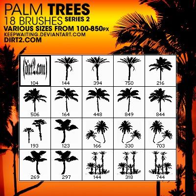Pinceles de palmeras para Photoshop