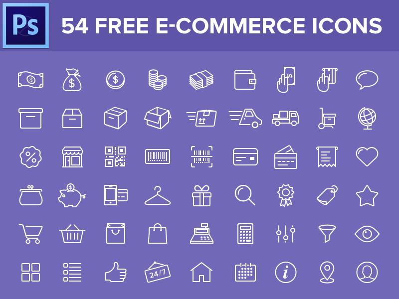 iconos-ecommerce-psd