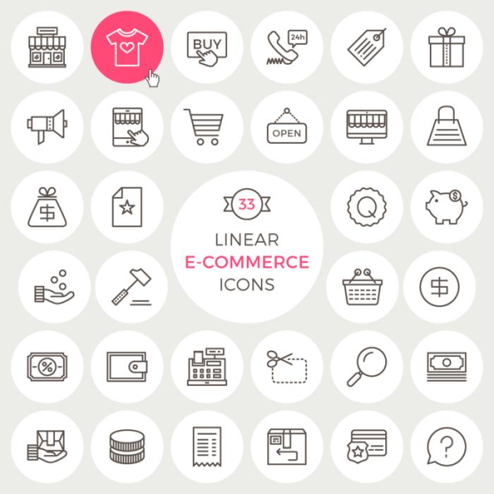 Iconos de tienda online en png y vector