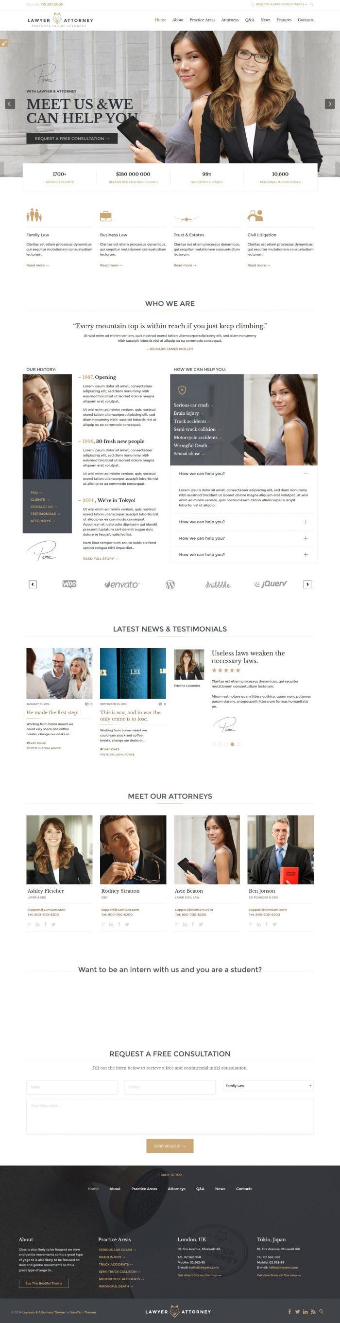 temas WordPress para abogados