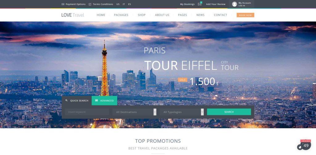 Temas wordpress para agencias de viajes