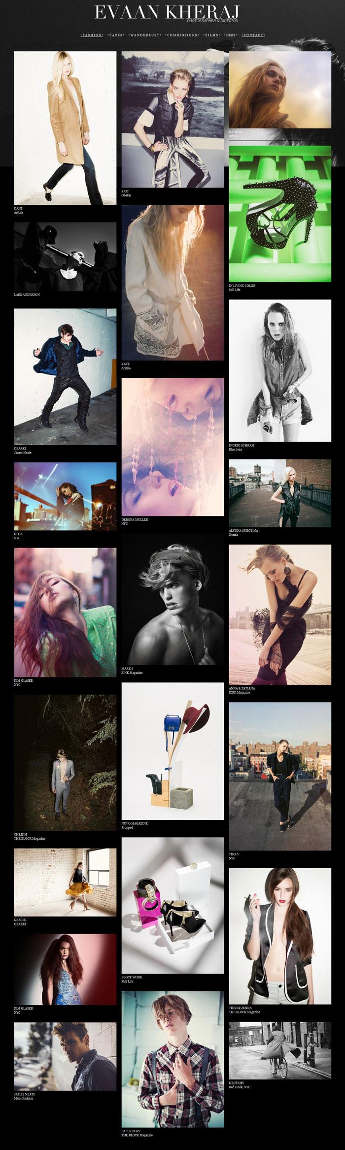 páginas web de fotografía