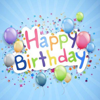 vectores feliz cumpleaños