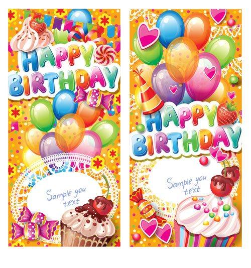 Felicitación de cumpleaños en vectorial