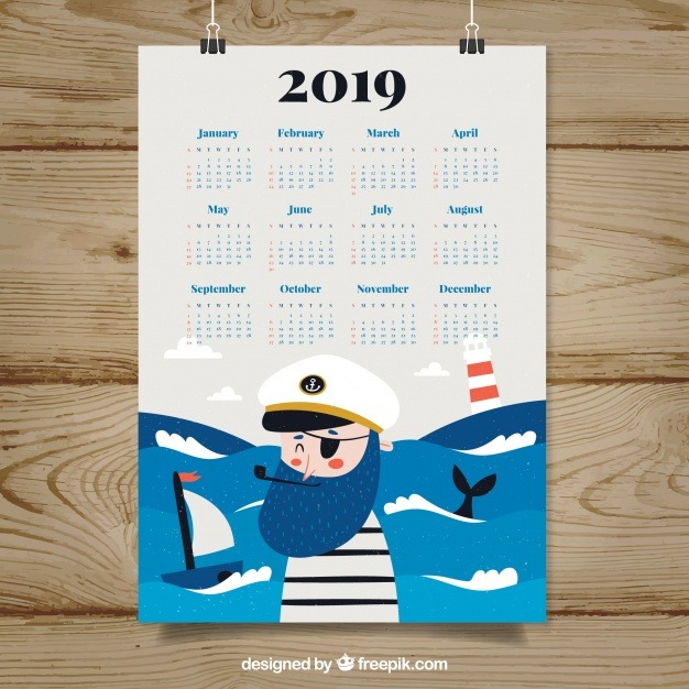 plantilla calendario illustrator