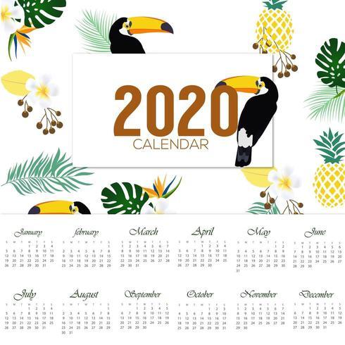 Plantillas de calendarios en vector – 2020 y años anteriores