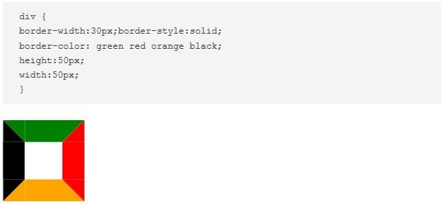 CSS border: radio, color, ancho con ejemplos