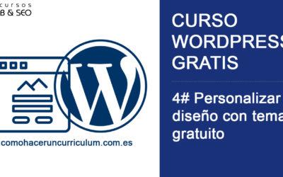 Curso WordPress Gratis. 4# Personaliza el diseño en WordPress