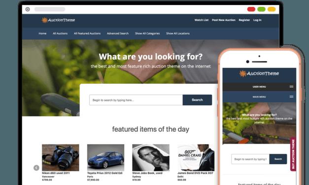 Los mejores temas wordpress de subastas para crear web de pujas