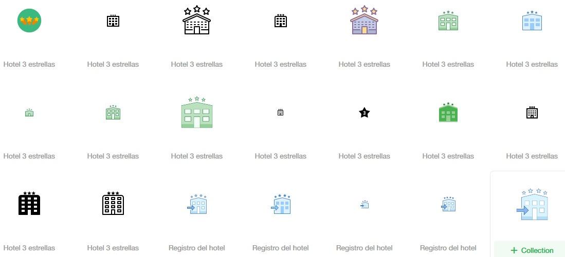 250 icono hotel