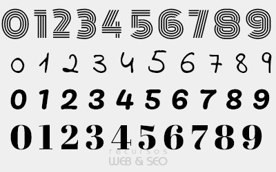 Tipografías de números para trabajos creativos