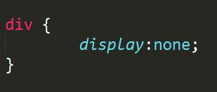 css display none