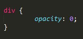 css opacity 0