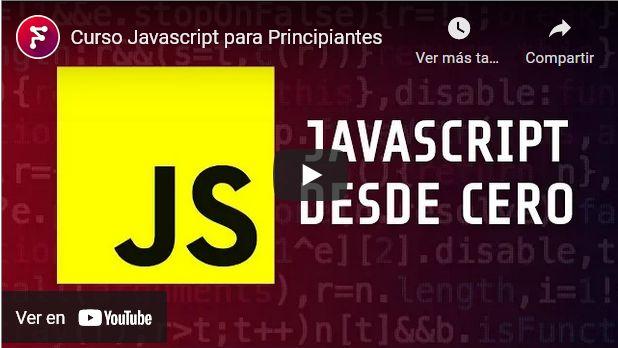 Cursos gratis de javascript para principiantes