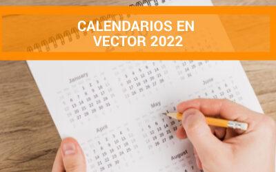 Plantillas de calendarios en vector – 2022 y años anteriores