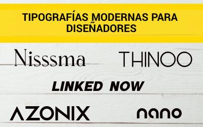 Tipografías modernas para diseñadores